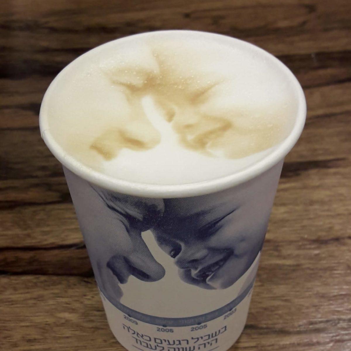 הדפסת תמונה על קפה | מרקטינג יו